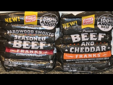 Oscar Mayer Hardwood Smoked Seasoned Beef Franks and Beef & Cheddar Franks Review