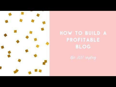 How to Build a Profitable Blog Free Webinar