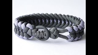 "How to Make a ""Knot and Loop"" Sanctified Paracord Bracelet-Bonus: Cobra Closure Knot"