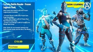 *NEW* FROZEN LEGENDS PACK in Fortnite Battle Royale! (NEW Fortnite Skins Bundle)