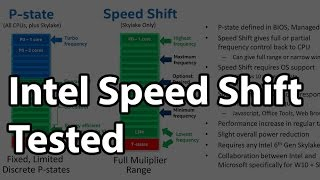 Intel Speed Shift Tested - Significant User Experience Improvements