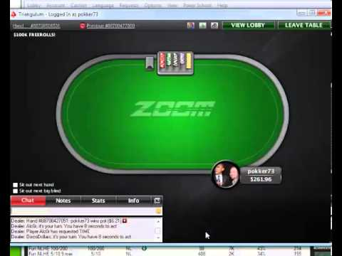 no limit holdm 100$ ZOOM pokerstars