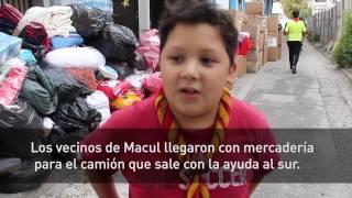 Macul envia ayuda a los damnificados del Sur de Chile