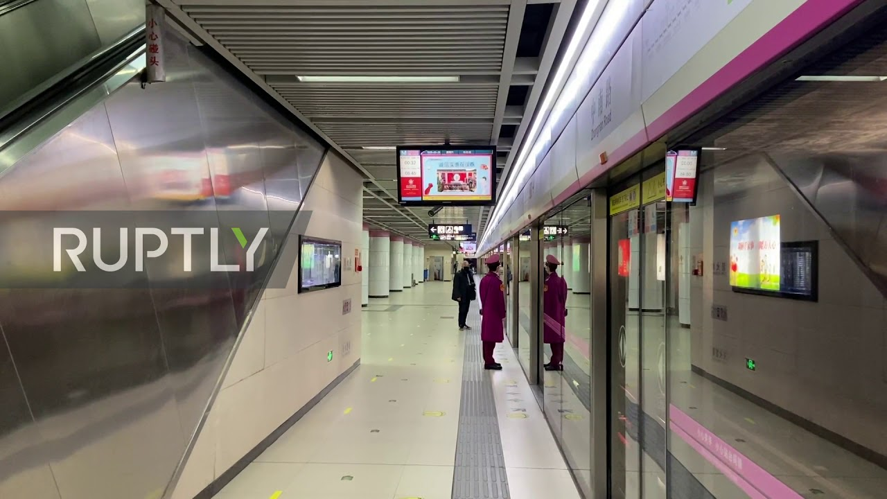 China: Metro stations mostly empty as public transport resumes in Wuhan