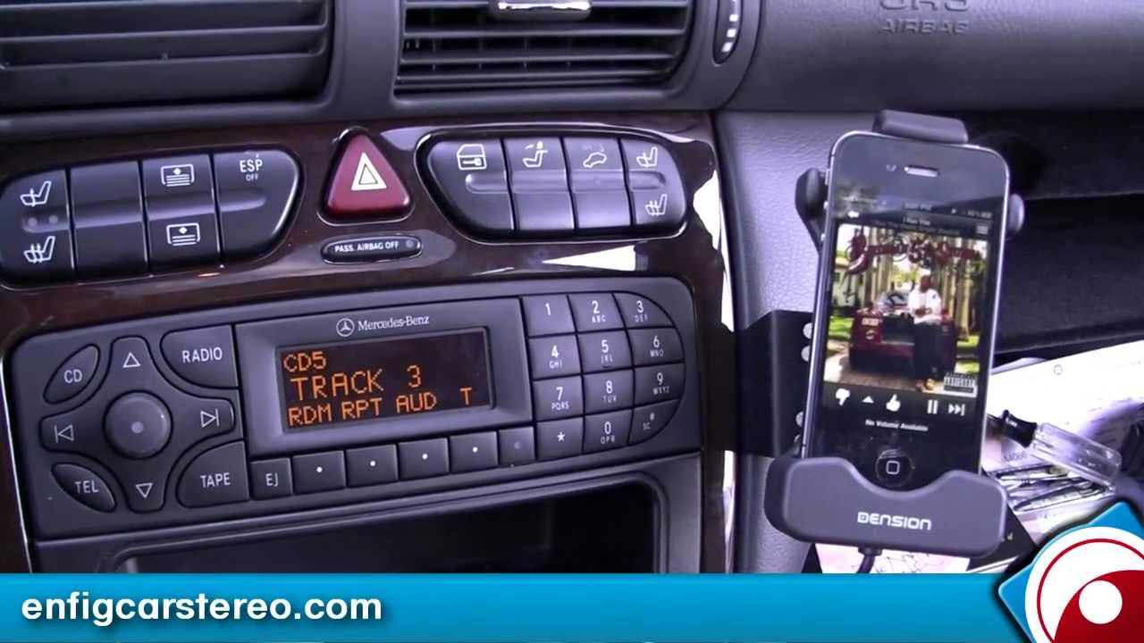ipod iphone usb adapter mercedes c class 2004 - youtube