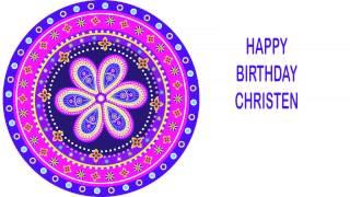 Christen   Indian Designs - Happy Birthday