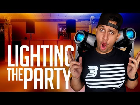 DJ GIG LOG: We LIT the Party Up! | Dance Floor Lighting & Uplights is the Perfect Combination