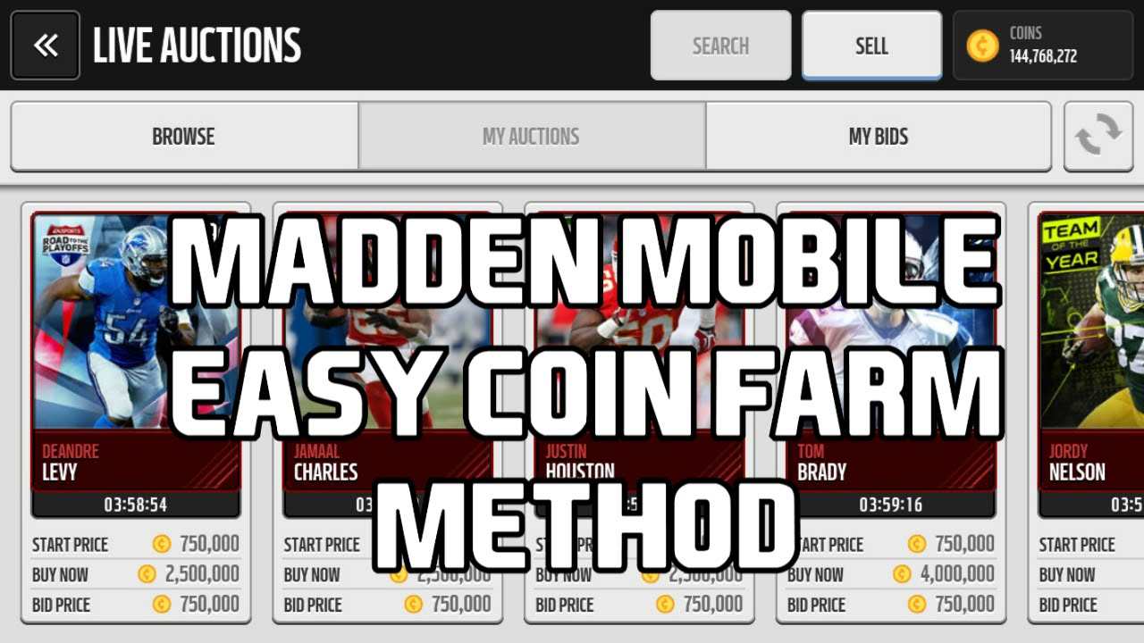 madden nfl mobile 16 easy coins method madden nfl mobile coin