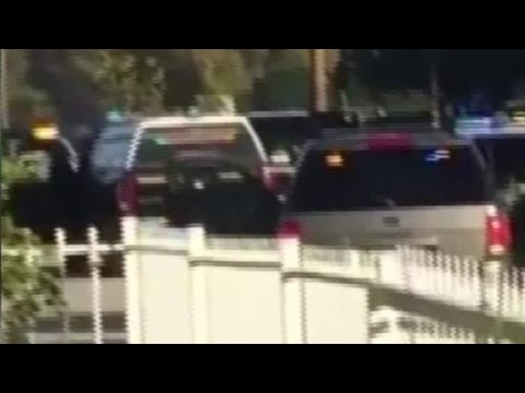Dramatic video shows San Bernardino shootout