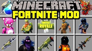Minecraft FORTNITE: BATTLE ROYALE MOD! | LEGENDARY GUNS, PORT-A-FORT, GLIDERS! | Modded Mini-Game