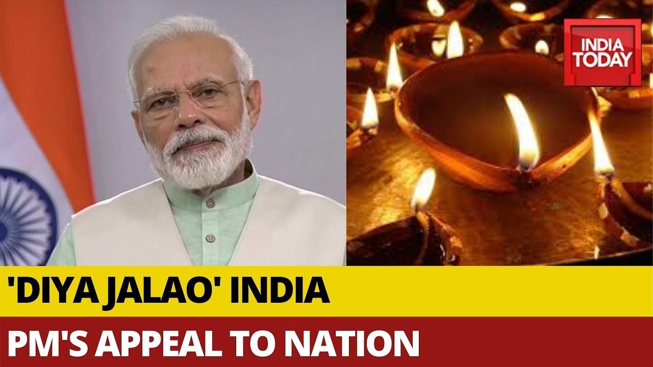 PM Modi's 'Diya Jalao' Call To Mark Fight Against Coronavirus; Watch How People React