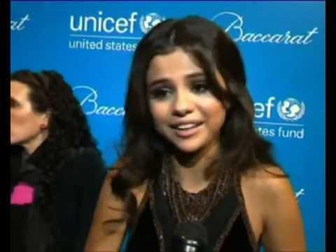 Selena Gomez at the Unicef Ball 2012