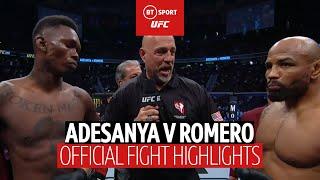 Israel Adesanya vs Yoel Romero | UFC 248 official fight highlights