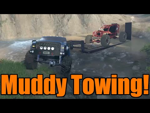 Spin Tires | Ford F350 Towing Challenge | Winch City!