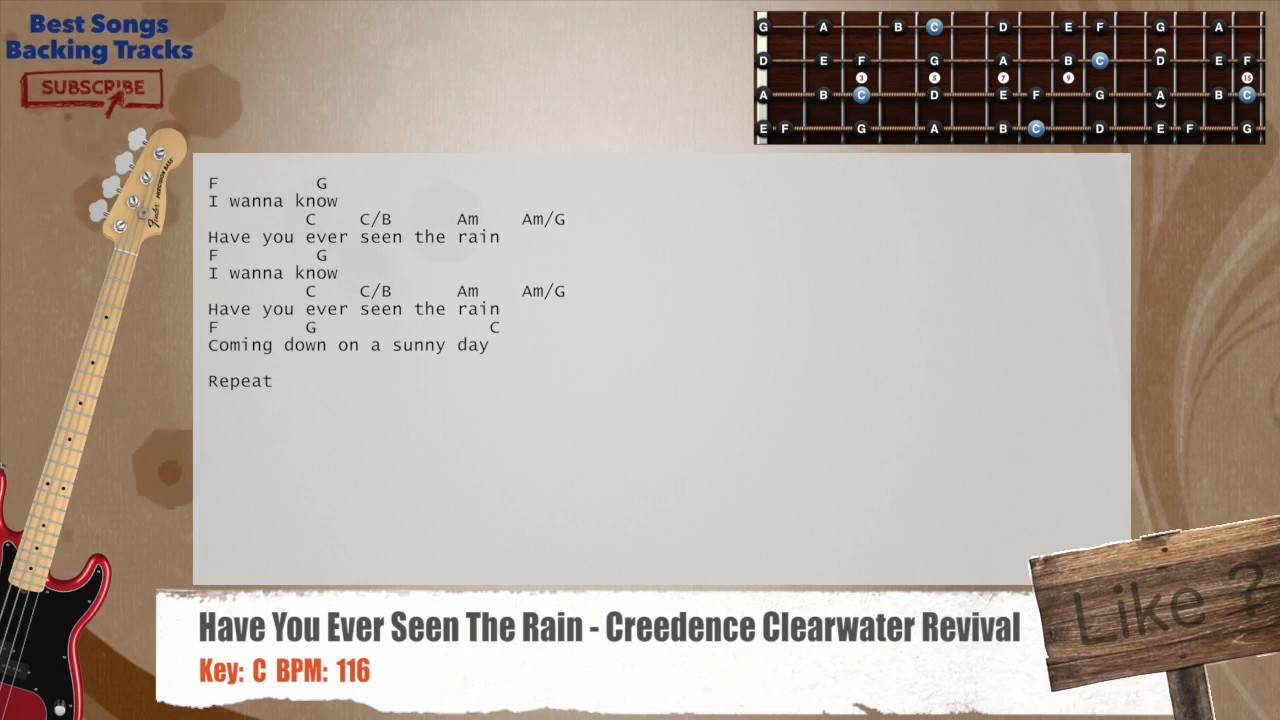 Have You Ever Seen The Rain Creedence Clearwater Revival Bass