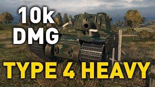 World of Tanks || Type 4 Heavy - 10,000 Damage...