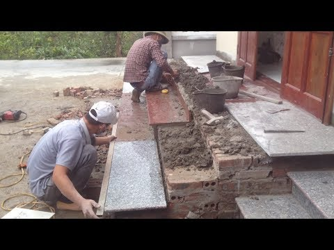 Amazing Construction Stone Stairs - Modern Technology Building Stairs Step By Step