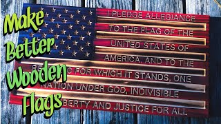 How to make better wooden flags with stains and epoxy resin