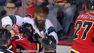 Brent Burns vs Garnet Hathaway Mar 7, 2016