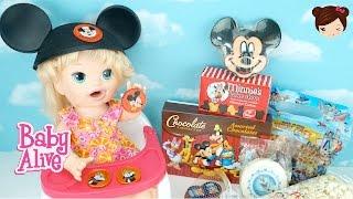 Baby Alive Come Dulces de Disney World - Sara Comidas Divertidas Muñeca Baby