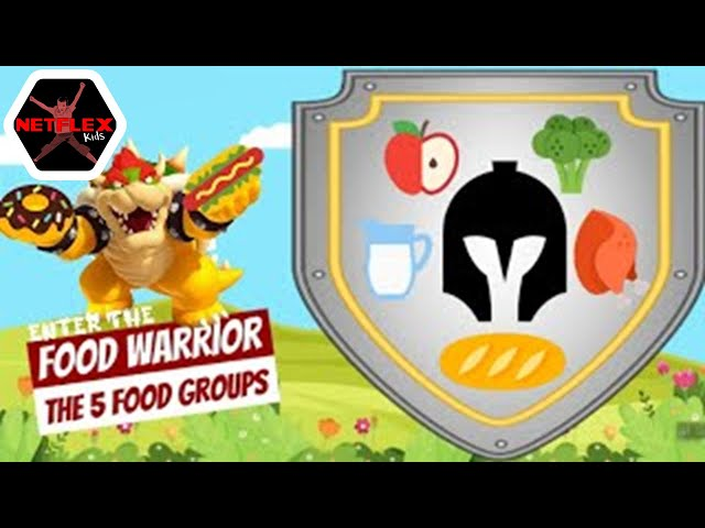 Enter the Food Warrior: Seated Interactive Story 🍎 🍗 🥦 🥖 🥛 (5 Food Groups) by AForbes
