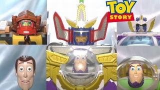 ディズニー、トイ・ストーリーの合体ロボが超合金で登場 ウッディロボシェリフスターとバズ・ザ・スペースレンジャーロボ の2台ロボが合体し...
