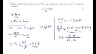 Cinética química. Aproximación al estado estacionario.  Problema 7