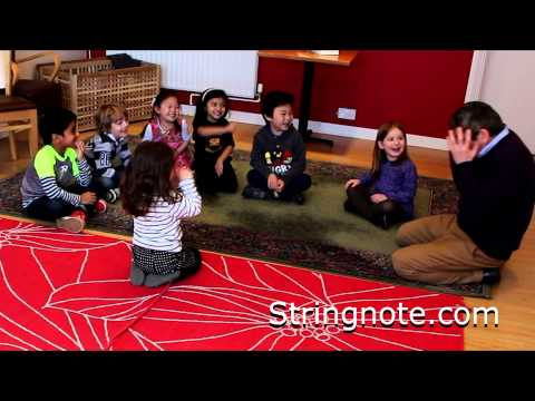 Funny music lesson for children listening to Beethoven