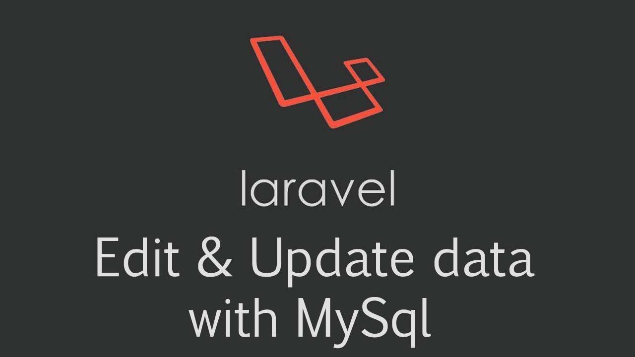 Edit Update Database Laravel