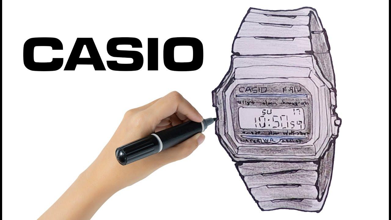 How to Draw a Casio Watch ⌚ (F91W-1 Classic)