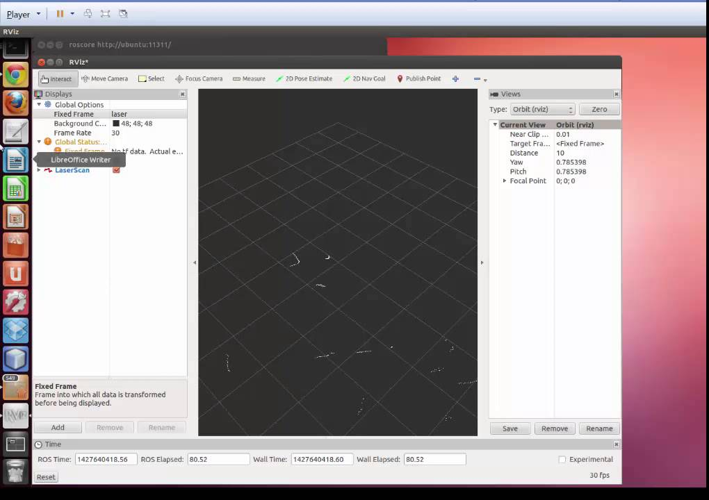 Creating a rosbag file and playing it