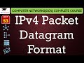 IPv4 Packet Datagram Format(Hindi, English) - Data Communication Networking Lectures