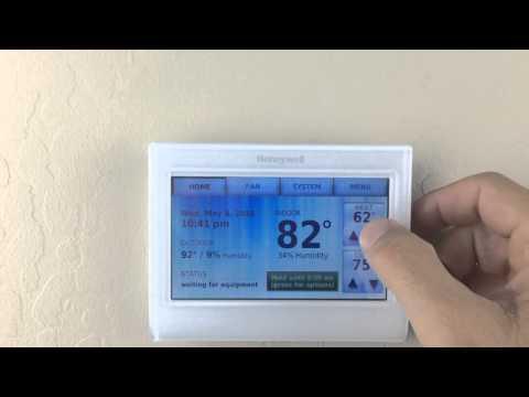 Honeywell 9000 Wi-Fi thermostat screen lock /password reset
