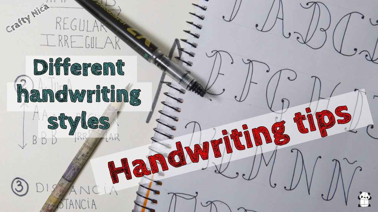 HANDWRITING TIPS How To Make Different Handwriting Styles Baroque Alphabet Easy