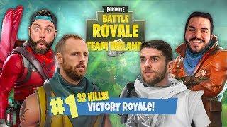 32 KILL WIN with OPTIC COURAGE, DAVID MEYLER and ROBBIE BRADY - Fortnite Battle Royale