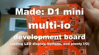 Made: PCBWay D1 mini multi-IO devboard - ESP8266 robot
