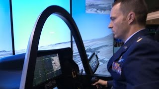 Pilots using simulators to train on new Air Force F-35 jets