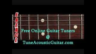 Open A Tuning - Open A Minor Online Guitar Tuner