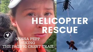 Helicopter Rescue – Pacific Crest Trail Hiker Rescued