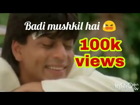 Badi mushkil hai WhatsApp status   romantic song   best WhatsApp status   srk birthday special 2017