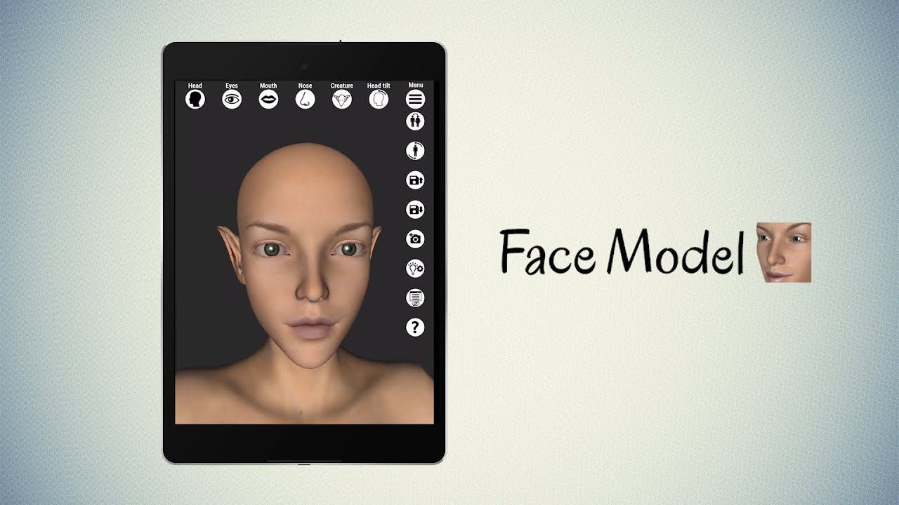 Face Model - Virtual 3D human head pose tool with morphing