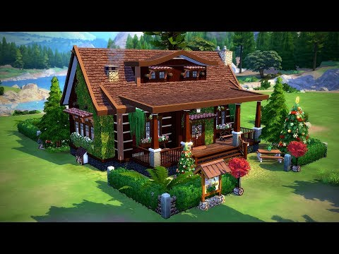 The Sims 4    Speed Build    Christmas Retreat Collab thumbnail