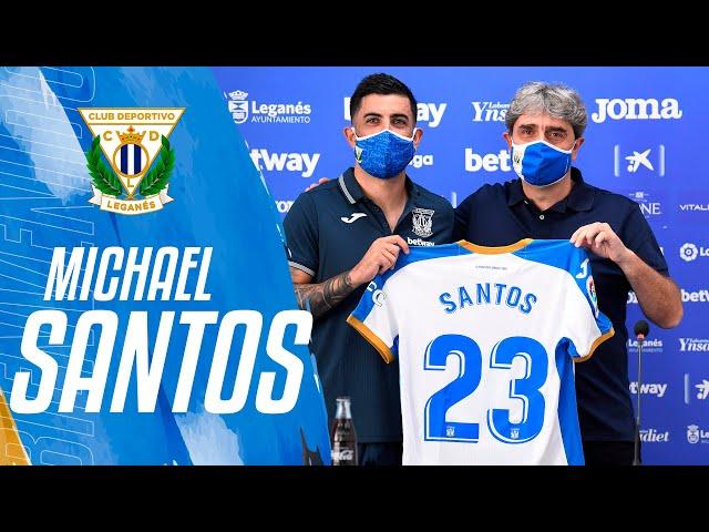 Presentación de Michael Santos como jugador del C.D. Leganés