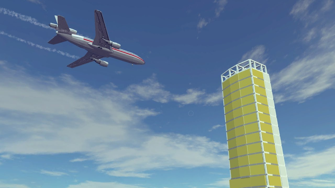 Airplane Crashes & Shootdowns #13 Feat. The newly built DC-10   Besiege