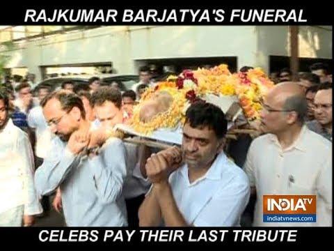 Rajkumar Barjatya funeral: Swara Bhasker, Bhagyashree and others pay last respect