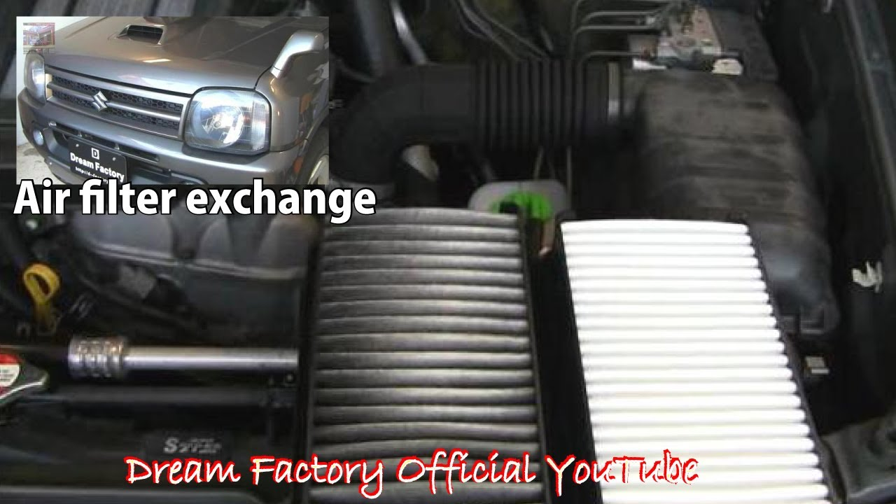 Air filter exchange☠Suzuki Jimny/ Mazda AZ-Offroad@Dream Factory Official YouTube - YouTube