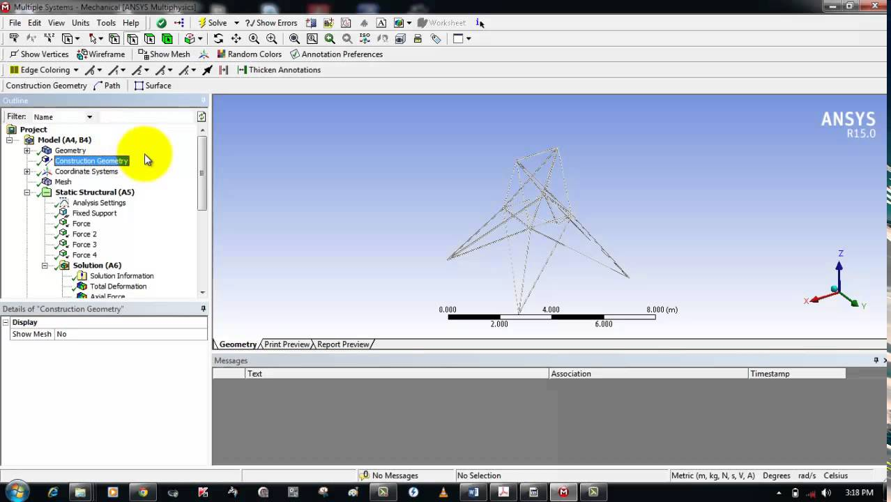 Shear Moment Diagram In Ansys Workbench Youtube Diagrams