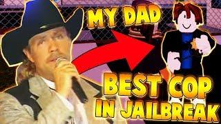 MY DAD IS THE BEST COP IN JAILBREAK?! (Roblox Jailbreak)
