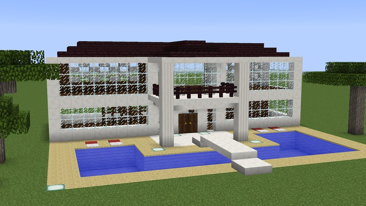 Minecraft how to build a modern mansion 2 youtube for How to build a mansion
