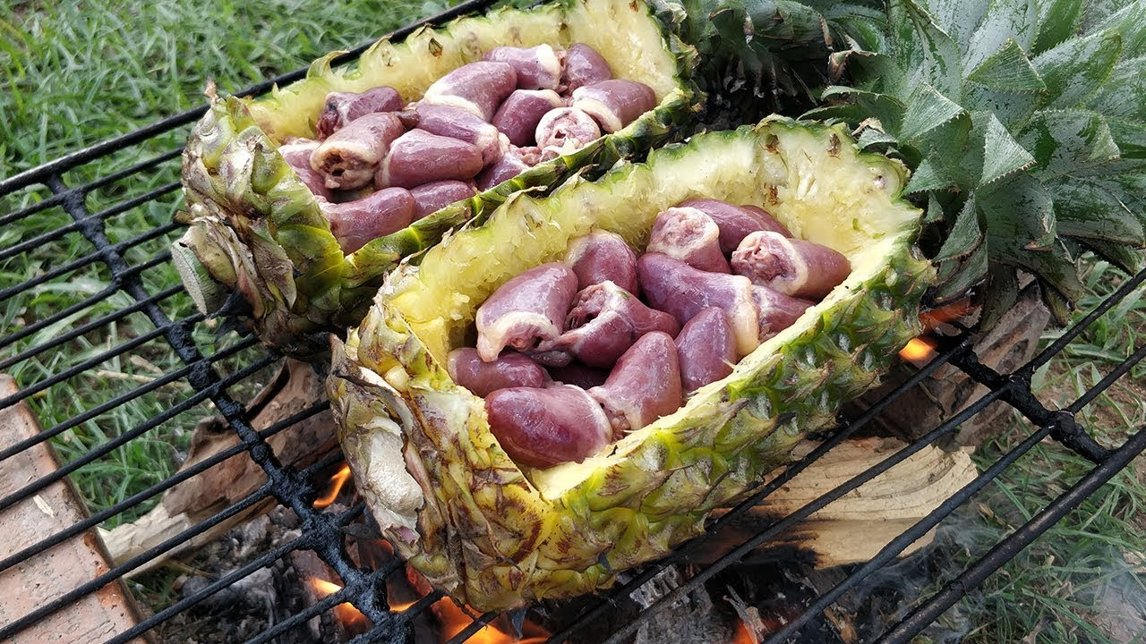 Delicious Duck Heart Boiling in Pineapple / Duck Heart Cooking